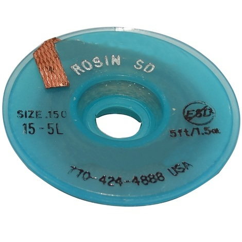 Tresse ruban bande à dessouder dessoudage cuivre 4.5mm/1.5m flux colophane