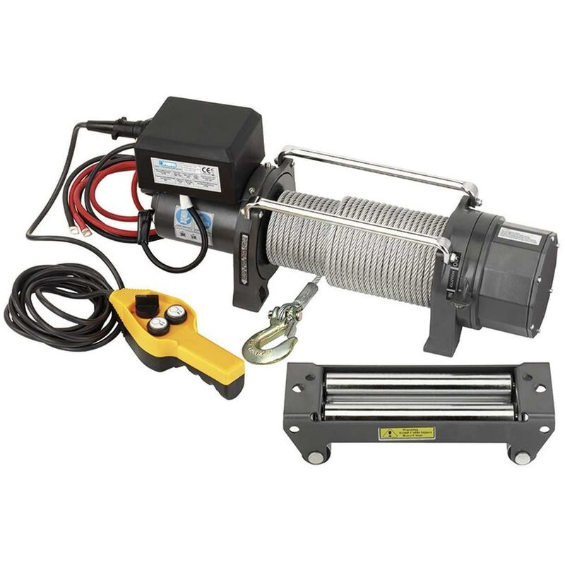 Treuil Electric Winch À Corde Tirer Courant Continu 2720 Kg Fervi 0630/2720