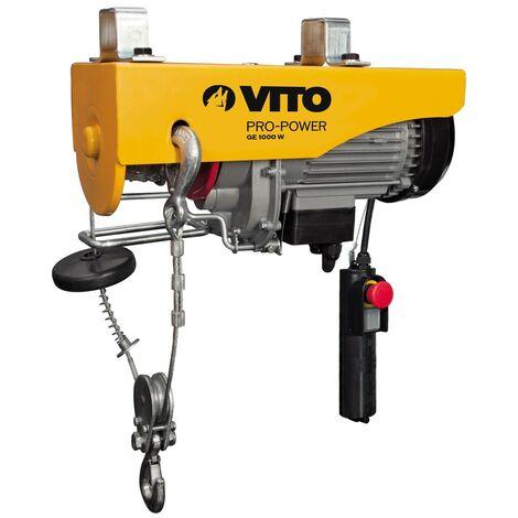 Treuil électrique 1000W VITOPOWER 250/500 kg 12 mètres max de levage