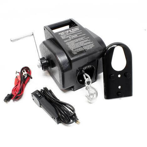 Treuil électrique 12 V Traction jusqu'à 4990 Kg Treuil à câble Outil Bateau Remorque