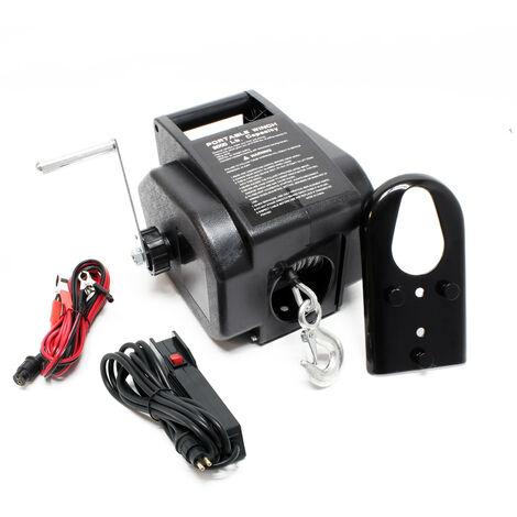 Treuil électrique 12 volts Traction jusqu'à 2267 Kg Treuil à câble Manivelle Outil Bateau Remorque