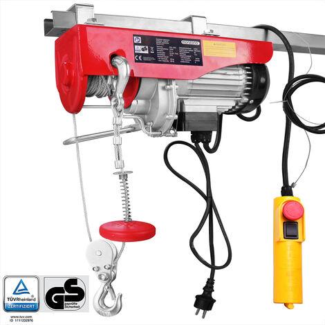 Treuil électrique 125 - 800 kg avec câble en acier et boîtier de commande 400/800 kg (de)