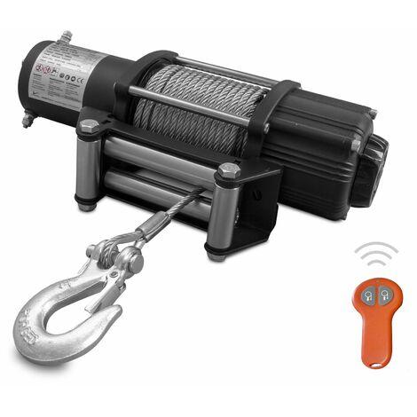 Treuil électrique 12V 2268 kg 15,2m avec télécommande radio MW-Tools EL2300