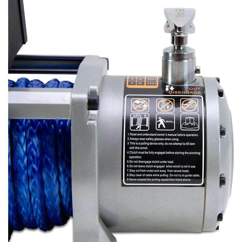 Treuil /Électrique Winch 12v 5900Kg 13000Lbs Corde Synth/étique Pour D/épanneuse 4x4 Tout-terrain