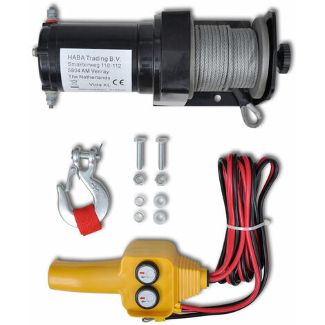 Treuil électrique 12V 907kg outils atelier garage