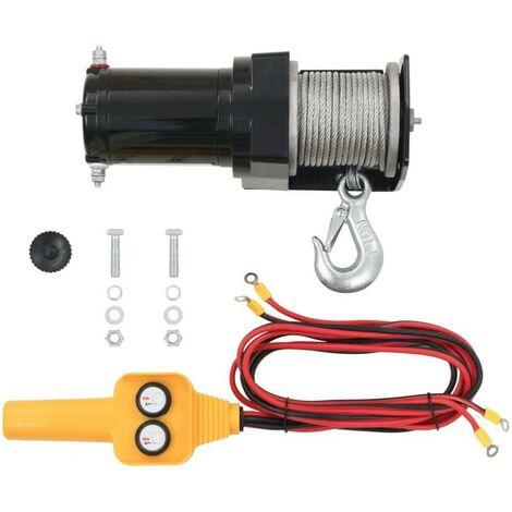 Treuil électrique 12V à cable 907 kg avec télécommande filaire