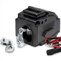 Treuil Electrique 12V Câble de tension Charge max 907kg avec Crochets Manivelle