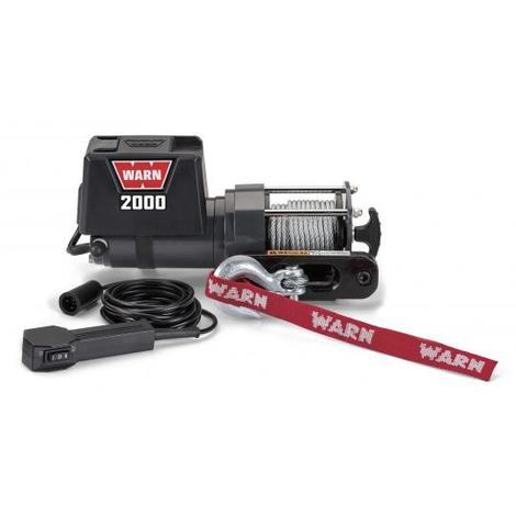 Treuil électrique Warn 12v - DC 2000 - Charge max 900 kg - Câble 11m et guide câble