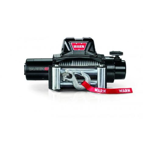 Treuil electrique Warn 12v - Tabor 10 - Charge max 4,6 tonnes - Cable 24m et guide cable a rouleaux