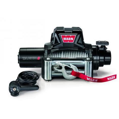 Treuil électrique Warn 12v - Tabor 8 - Charge max 3,6 tonnes - Câble 28m et guide câble à rouleaux
