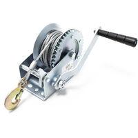 Treuil manuel de halage 550kg 10m 2-sens avec 1 vitesse rapport de transmission 4.1:1