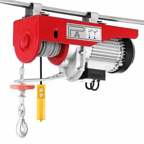 Treuil palan électrique 100 / 200KG avec câble en acier et télécommande