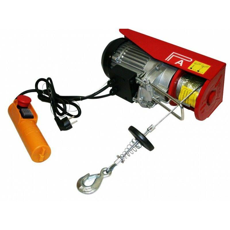 Varan Motors - var-PA800M Treuil palan électrique 230V 400 / 800KG 1300W avec télécommande - Rojo