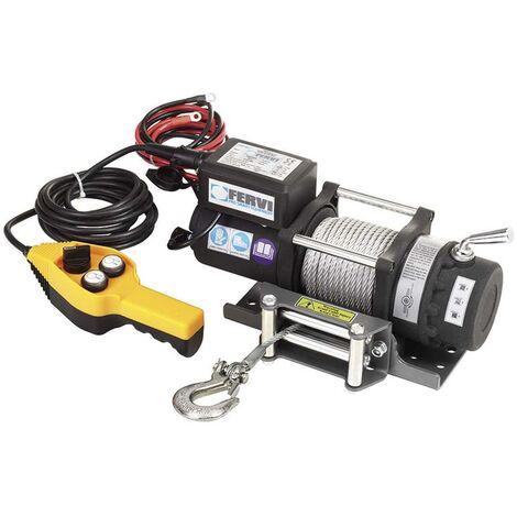 TREUIL PALAN ELECTRIQUE LEVAGE A CABLE 12V FERVI 0630/2200
