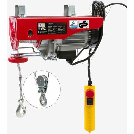 """main image of """"Treuil Palan électrique Treuil à câble électrique Potence Pivotante 300/600 kg - rouge"""""""