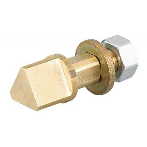 Triangle à poser pour serrure à larder en carré de 7 mm, type 14 mm