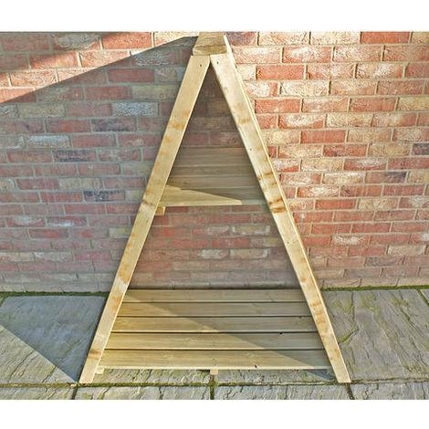 Triangular Log Store Large Overlap Pressure Treated