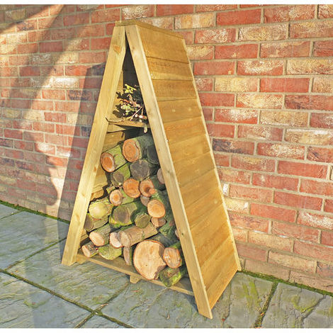 Triangular Log Store Small Overlap Pressure Treated