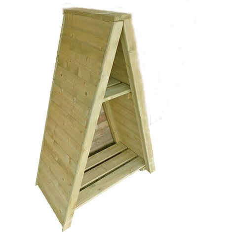 Triangular Log Store Small T&G Pressure Treated