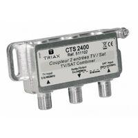 TRIAX CTS 2400 Coupleur 2 entrées TV / SAT pour antenne tv tnt parabole