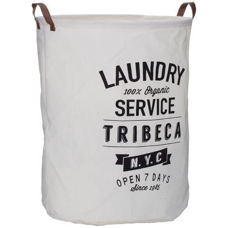 Tribeca Laundry Bag,Polyester/Cotton/Rayon,Natural/Black
