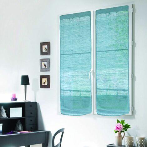 """main image of """"TRIBU - <p>Store voilage en jute et coton bleu clair 60x200</p> - Bleu clair"""""""