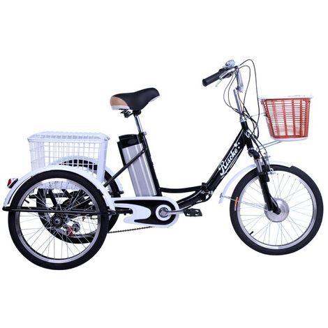 Triciclo eléctrico con dos cestas bep-47