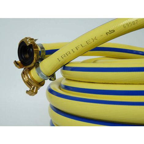 """Tricoflex Wasserschlauch Irriflex PVC, gelb 1"""" m.Kupl 50m"""