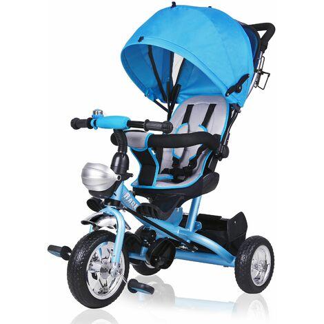 Tricycle bleu / rose enfant 10 à 36 mois Guidon Panier Vélo Canne directionnelle