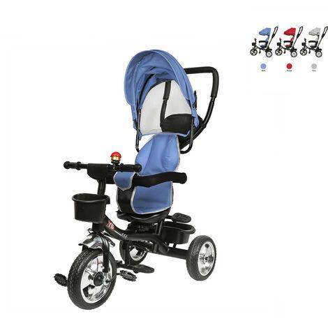 Tricycle évolutif bébé/enfant 1-3 ans - Bébé mixte - Bleu - Bleu