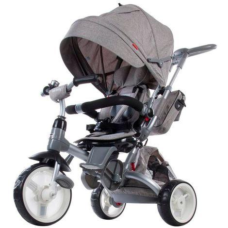 Tricycle évolutif bébé/enfant 1-3 ans - Little Tiger   Gris foncé - Gris foncé