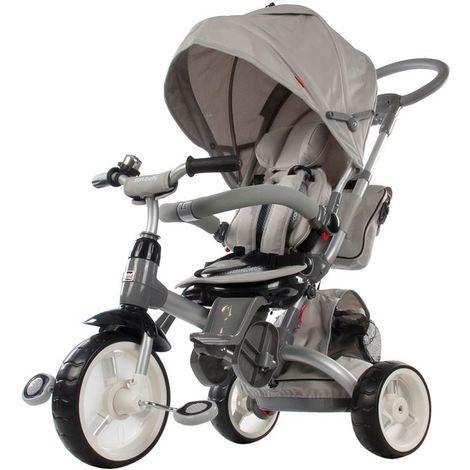 Tricycle évolutif bébé/enfant 1-3 ans - Little Tiger   Gris - Gris