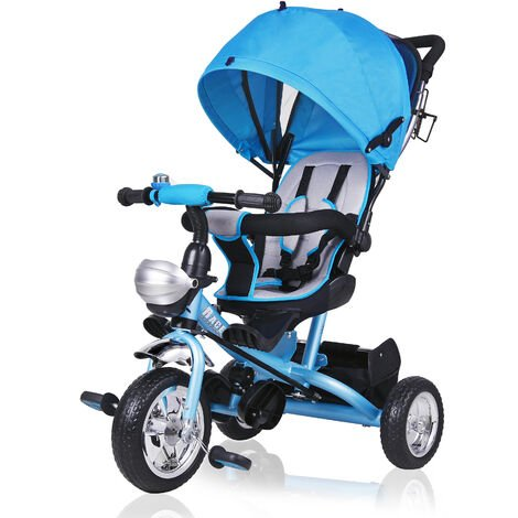 Tricycle Kids 3 Wheeler Trike Pedal Ride-On Bike Parent Handle Bar Canopy Infant