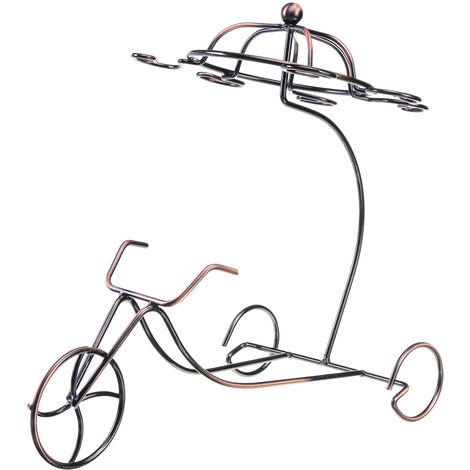 Tricycle Style Red Wine Rack Hanging Cup Racks Wine Display Rack
