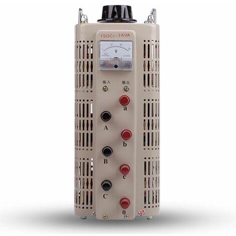 Trifasico VARIAC- Transformador de salida variable CA 12 Amp 0-430V (TDGC2-3KVA)