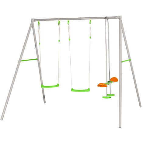 TRIGANO Axion Swing Set Louise 259x213x220 cm Steel J-11468P8