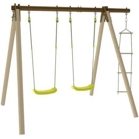 TRIGANO Portique Piki en bois et métal - 1.90 m
