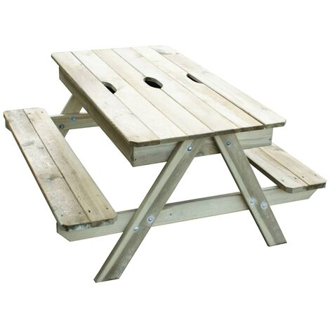 TRIGANO Table de pique-nique de jeu Picsand 100 x 97 x 57 cm J-JOU054