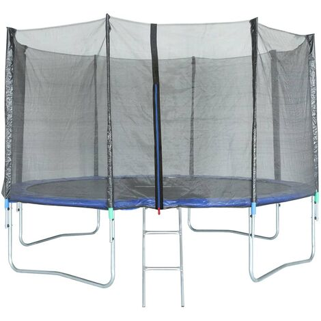 Photo de trigano-trampoline-avec-filet-de-securite-427-cm