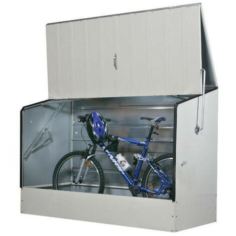 Trimetals - Abri vélos crème en métal 1,96x0,89x1,33 m - ABRIVELOS_CREME
