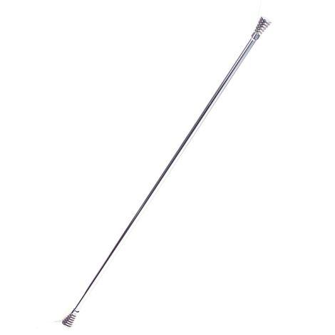 Tringle à rideau extensible Métal brossé - 120 à 210 cm - Torsade - Argent