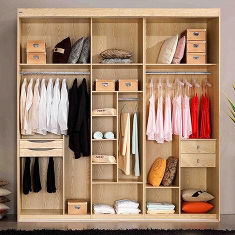 Tringle à vêtements coulissante penderie tringle à vêtements en acier inoxydable, tube de penderie pour armoire, douche, balcon