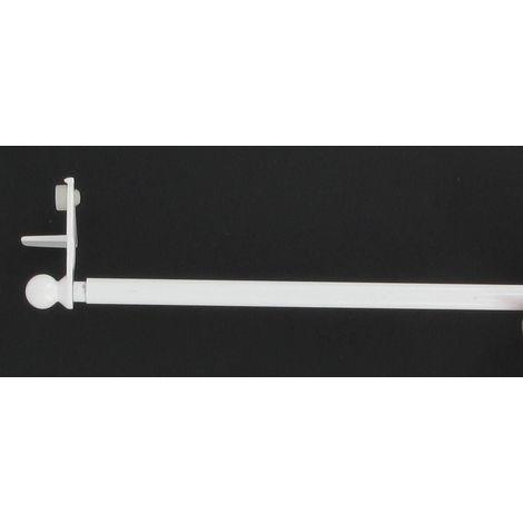 Tringle autobloquante sans percage Fix'vit blanc extensible de 80 a 120 cm