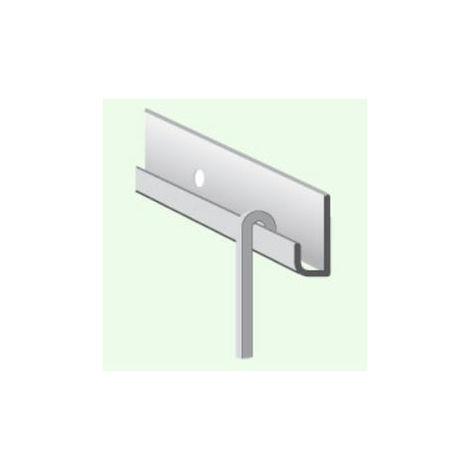 Tringle canne pour cimaise 2 m alu argent CIVIC - 23143720