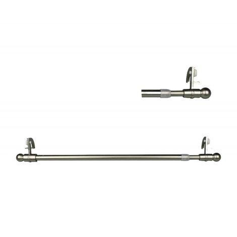 Tringle Extensible Autobloquante 60 à 90cm Windorod Coloris - Nickel mat - Nickel mat
