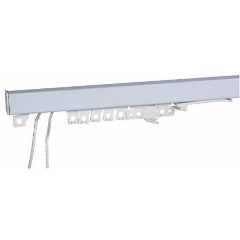 Tringle laquée blanche tapissier Ateliers 28 - 2 rideaux - Longueur 1,8 m