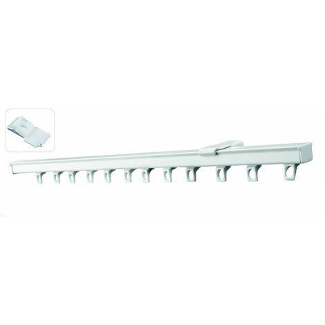Tringle Rail Unirail Laqué Blanc Pour Rideau Avec Glisseur longueur 1 mètre