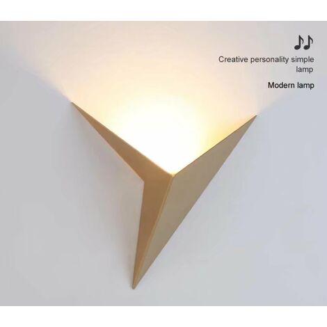 Triomphe 2 pièces Lampe murale de chevet à LED nouvelle lampe de mur de fond de salon de couloir d'escalier de couloir d'hôtel d'ingénierie chinoise (lumière blanche chaude dorée,2 pièces)