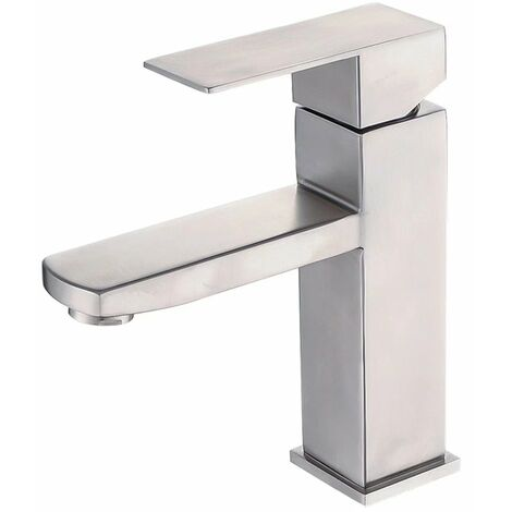 TRIOMPHE 304 robinet en acier inoxydable salle de bain robinet d'eau chaude et froide robinet de lavabo salle de bain sous le robinet de lavabo (C)