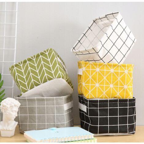 TRIOMPHE 5 paniers de rangement à cadre en tissu, sacs de rangement pour sacs en tissu, paniers pour vêtements, paniers divers, 20 * 14 * 16cm